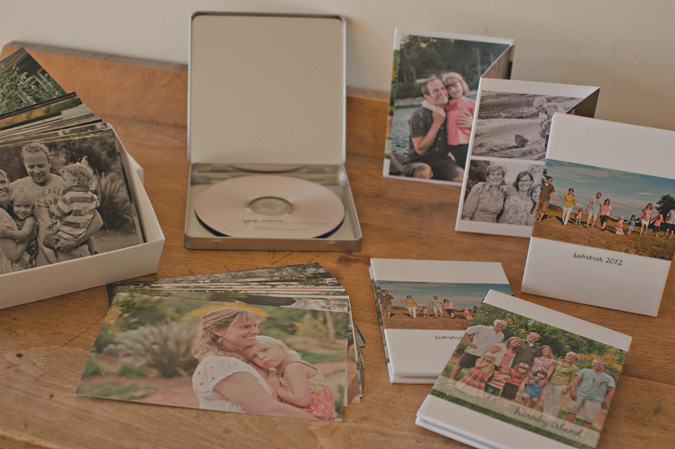 photo samples of beautiful standout wall prints, dvd, prints and a photo book from a lifestyle family photo session on hornby island, bc