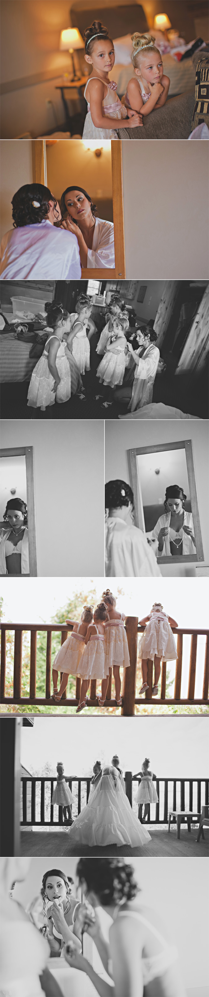 bride getting ready on her wedding day, tigh na mara resort, parksville, bc