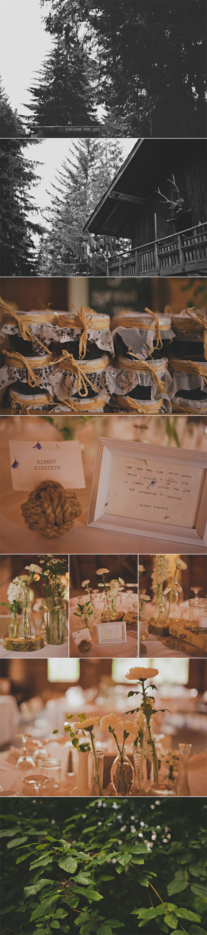 details from a wedding at strathcona park lodge, vancouver island, bc