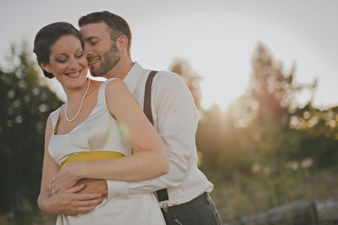 intimate portrait of bride & groom on their wedding day, qualicum beach, bc