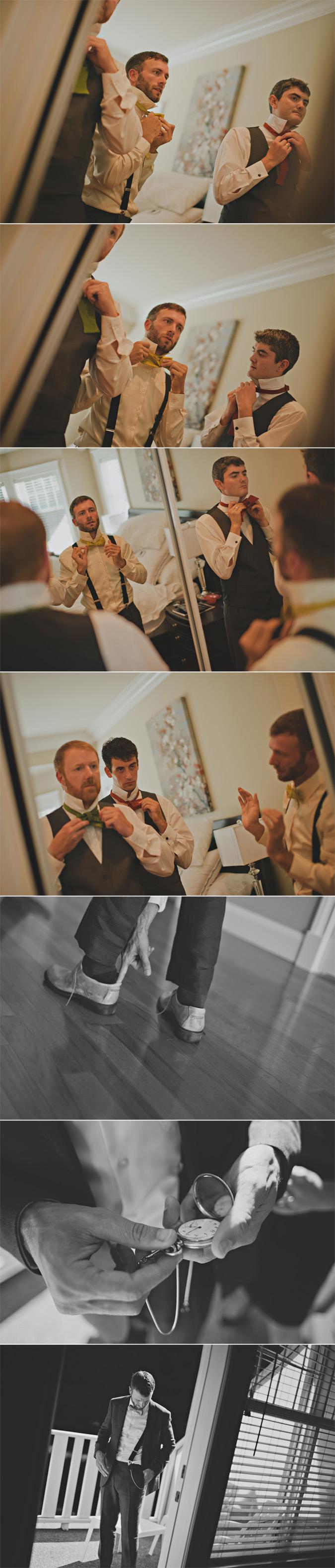 groom & groomsmen getting ready on his wedding day, qualicum beach, bc