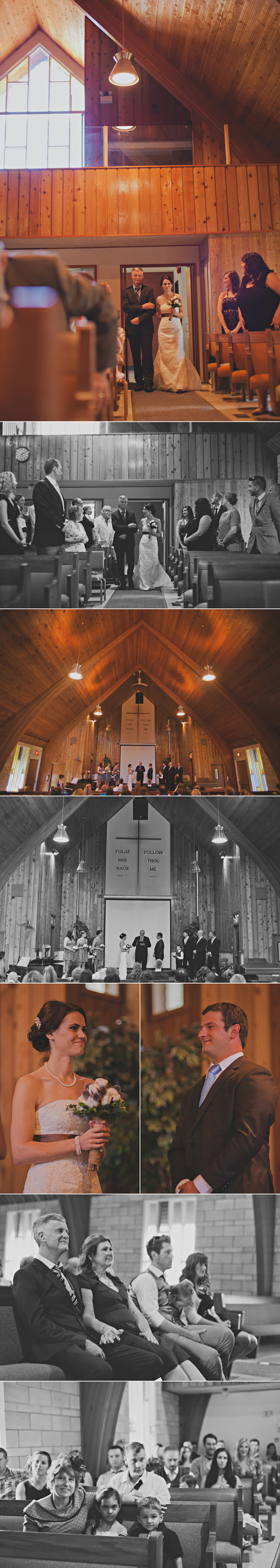 christian wedding ceremony in church near campbell river, vancouver island, bc