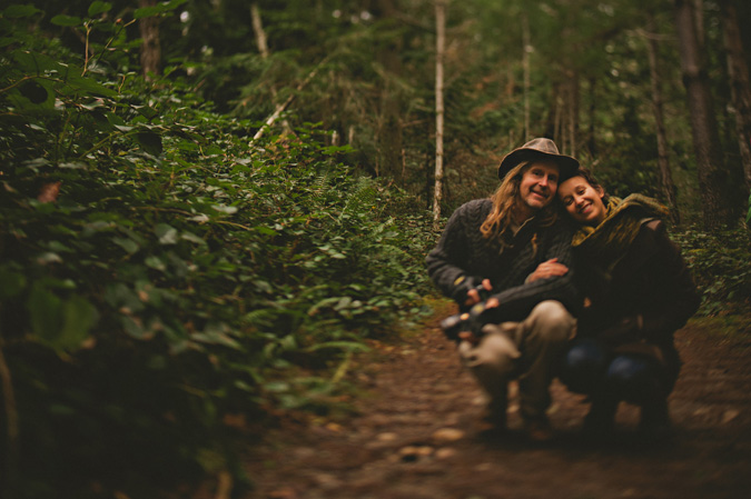 a couple in helliwell park, hornby island, bc