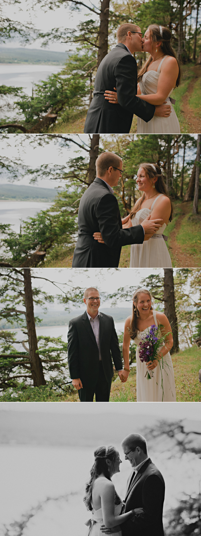intimate elopement ceremony on hornby island, bc