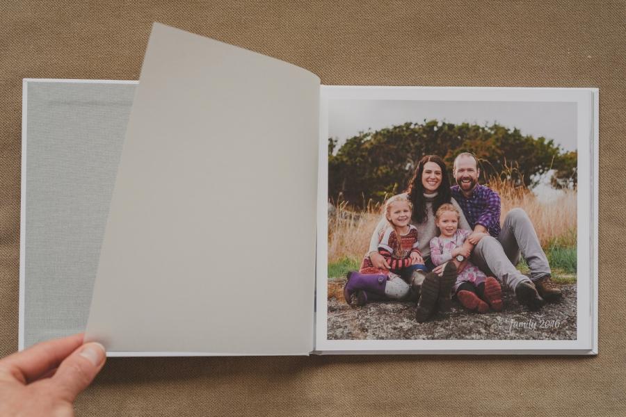 fine art documentary photography-keepsake photo books-velum page at beginning of book