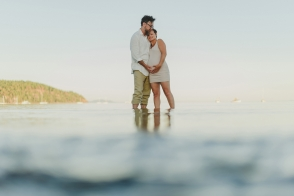hornby island sunset maternity session