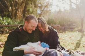documentary at home newborn family session