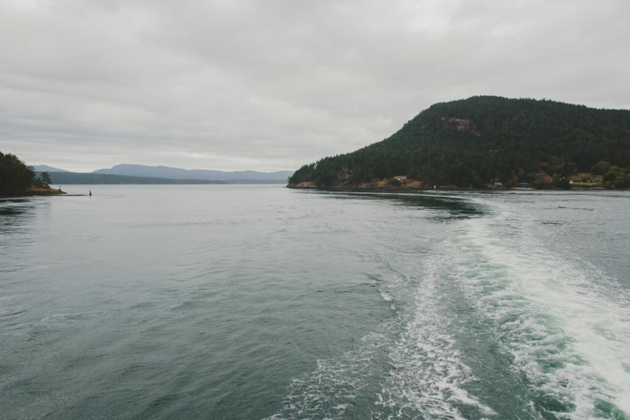intimate bodega ridge wedding - galiano island - view from bc ferry