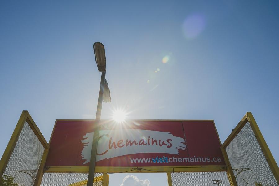 overbury resort thetis island wedding - Chemainus sign in the sunshine