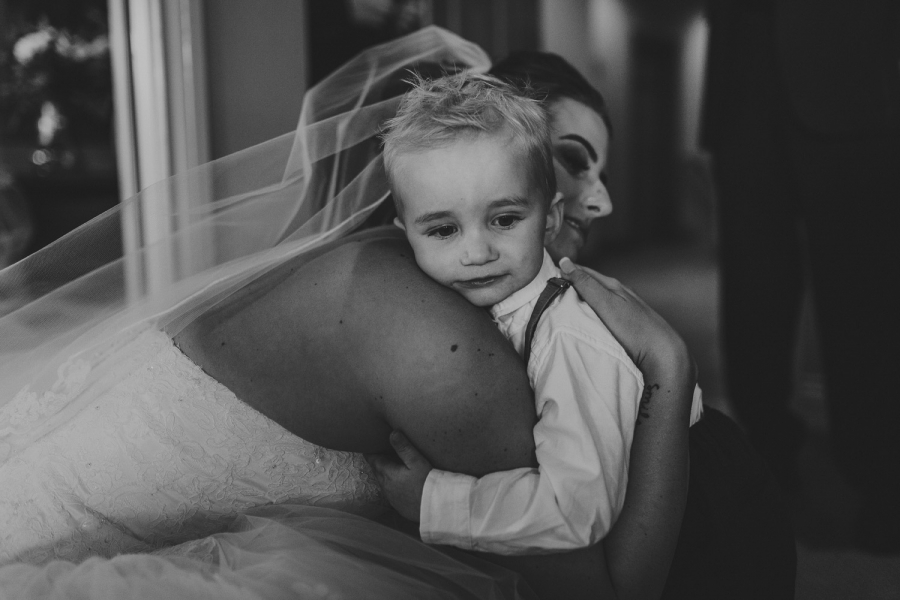 bride and son tofino wedding
