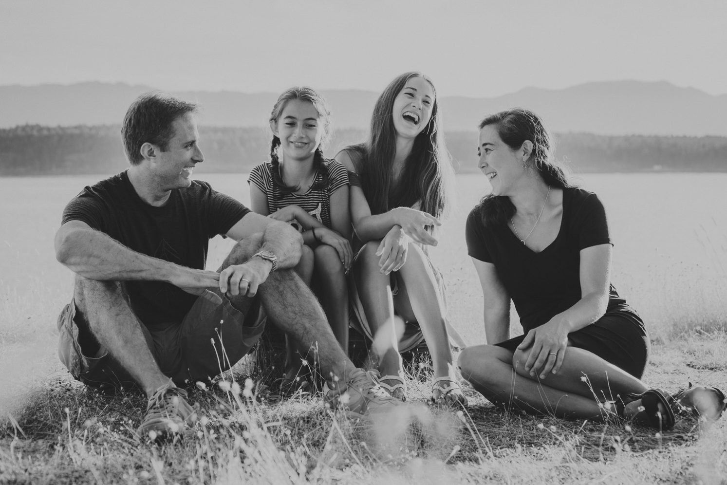 family photography session hornby island