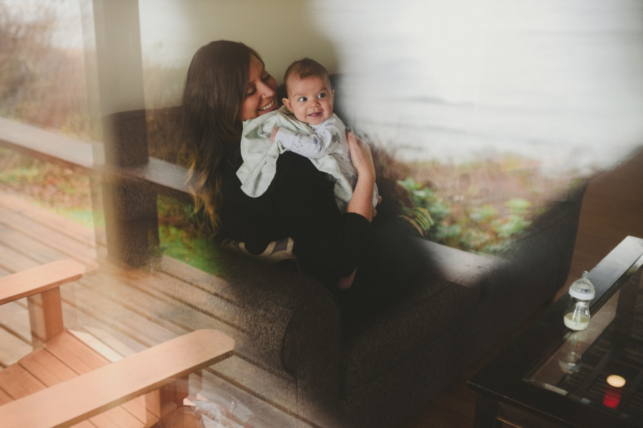 hornby island family session mother and baby