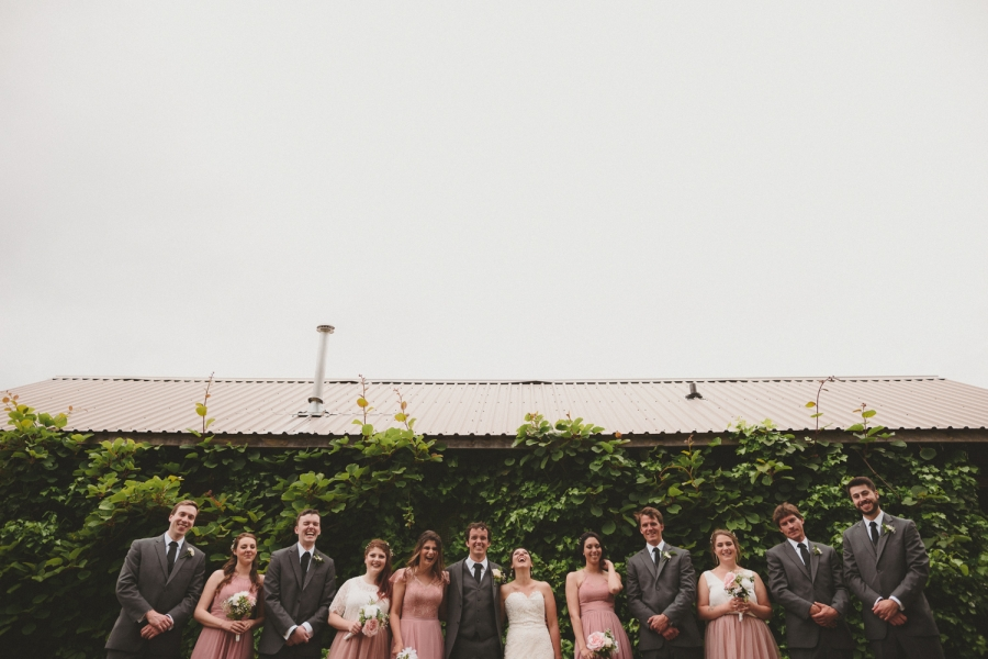 strathcona park lodge wedding bridal party